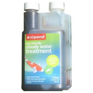 Cloudy Water treatment liquid for new ponds