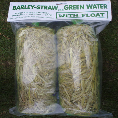 Barleystraw minibales for larger water volumes