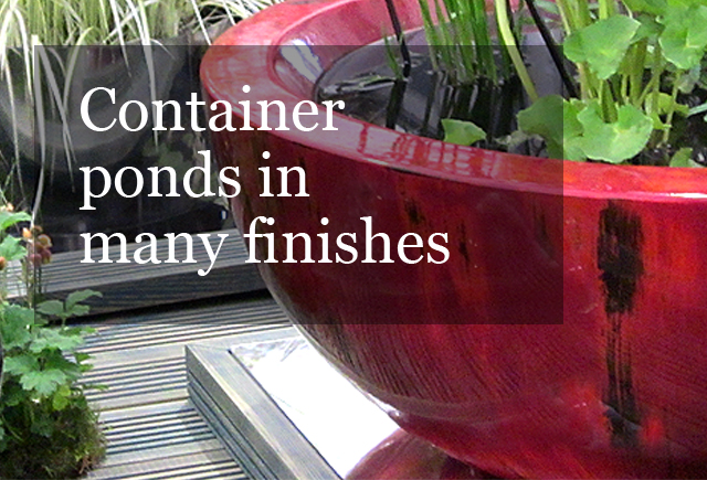 Container pond in Weeping red finish