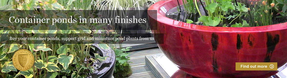 patio container ponds in fibreglass for small gardens