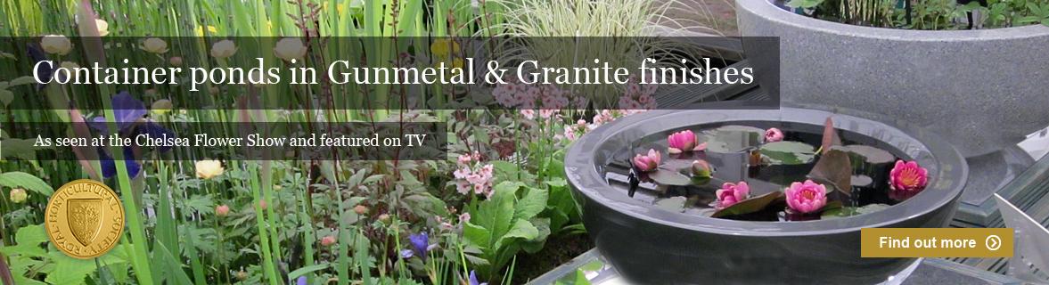 patio container ponds in fibreglass for small gardens