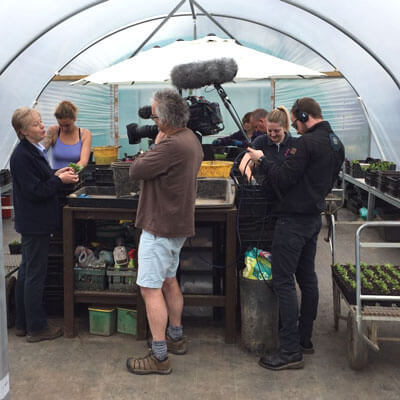 BBC filming at the Nursery