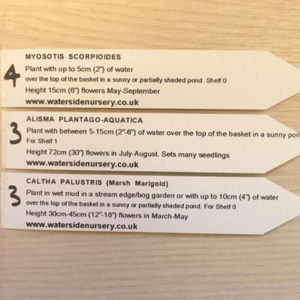 Information tickets sent with plants on despatch