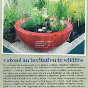 'Your Home'  - Container pond as an invitation to wildlife