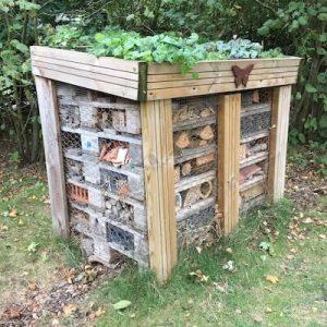 Pallet hibernaculum or Bug House to overwinter wildlife